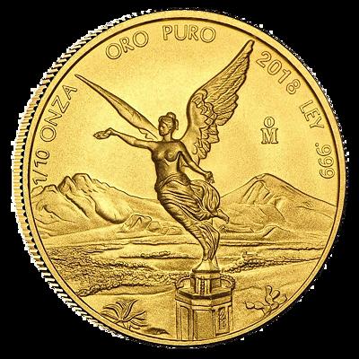Zlatá mince Libertad 1/10 Oz 2019