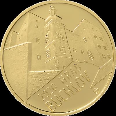 Zlatá mince 5000 Kč Hrad Buchlov 2020 běžná kvalita