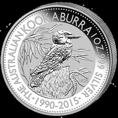 Stříbrná mince 1 Oz Australian Kookaburra (Ledňáček) 2015 (1990-2015)