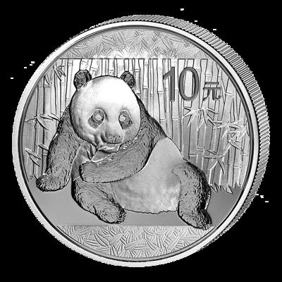 Stříbrná mince 10 Yuan China Panda 1 Oz 2015