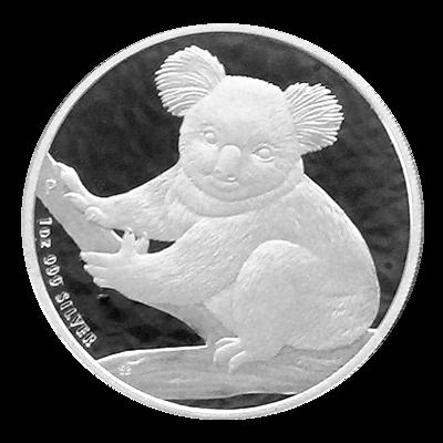 Stříbrná mince 1 Oz Australian Koala 2009