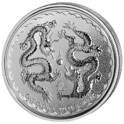 Stříbrná mince 1 Oz Double Dragon 2018