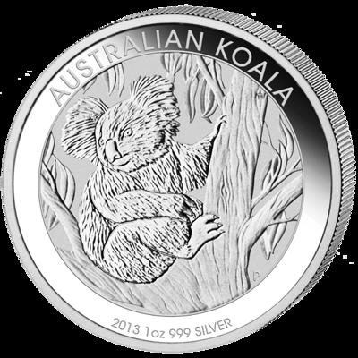 Stříbrná mince 1 Oz Australian Koala 2013