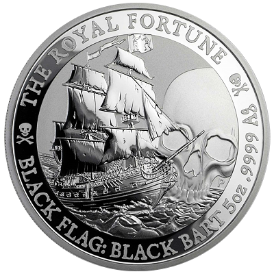 Stříbrná mince 5 Oz The Royal Fortune 2020 (Black Flag Serie) - (2.)