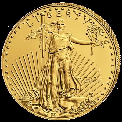 Investiční zlato - zlatá mince 50 USD American Eagle 1 Oz