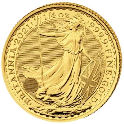 Investiční zlato - zlatá mince 25 Pounds Britannia 1/4 Oz