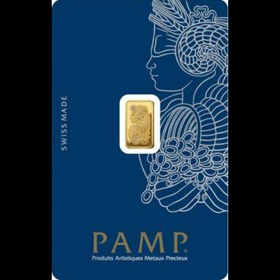 Investiční zlato - zlatý slitek 1g PAMP Fortuna (Tyché)