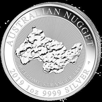 Stříbrná mince 1 Oz Australian Nugget 2019 (Welcome Stranger 1869)