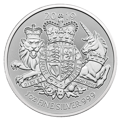 Stříbrná mince 1 Oz The Royal Arms 2019