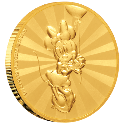 Exkluzivní zlatá mince Minnie Mouse™ 1/4 Oz 2019 PROOF (Mickey Mouse™ & Friends) - (2.)