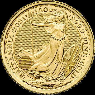 Investiční zlato - zlatá mince 10 Pounds Britannia 1/10 Oz
