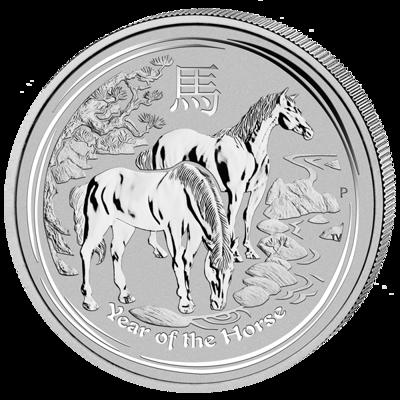 Lunární série II. - stříbrná mince 8 AUD Year of the Horse (Rok koně) 5 Oz 2014