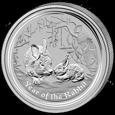 Lunární série II. - stříbrná mince 1 AUD Year of the Rabbit (Rok králíka) 1 Oz 2011