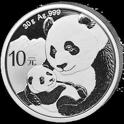 Stříbrná mince 10 Yuan China Panda 30g 2019