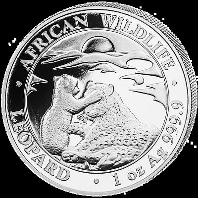Stříbrná mince 100 Schillings Leopard 1 Oz 2019 (African Wildlife Series)