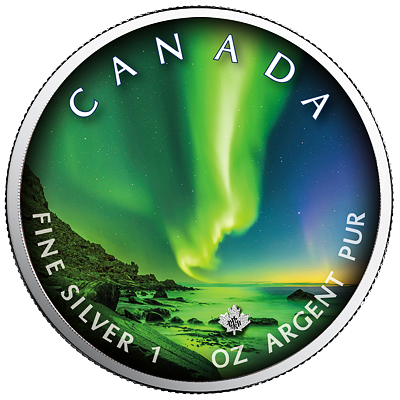 Stříbrná mince Maple Leaf Polar Lights - Whitehorse Town 1 Oz 2020 (6.)