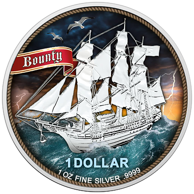 Stříbrná mince 1 Oz Bounty High Seas (Šíré moře) 2020 Color