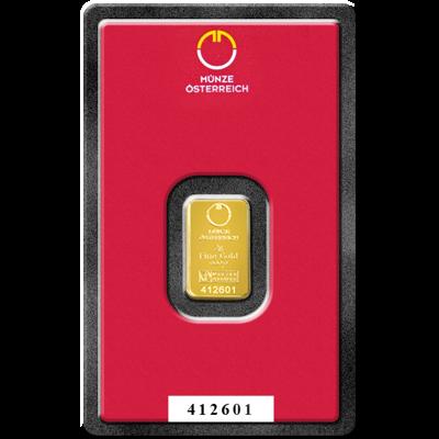Investiční zlato - zlatý slitek 2g Austrian Mint