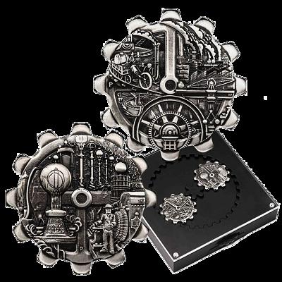 Stříbrné mince Průmyslový vývoj 2 x 1 Oz 2018 (Evolution of Industry) Antique Standard