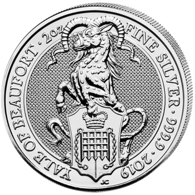 Stříbrná mince 2 Oz The Yale of Beaufort 2019 (The Queen's Beasts)