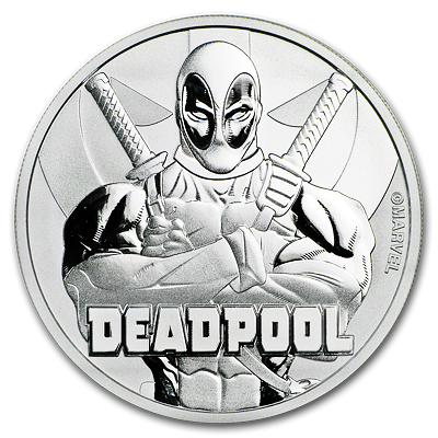 Stříbrná mince 1 Oz Deadpool™ (Marvel™) 2018 - (5.)