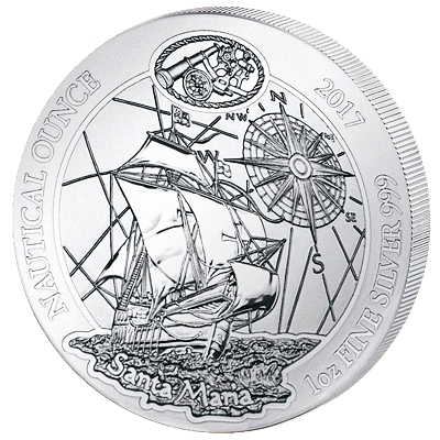 Stříbrná mince Santa Maria (Nautical Ounce) 1 Oz 2017 - (1.)