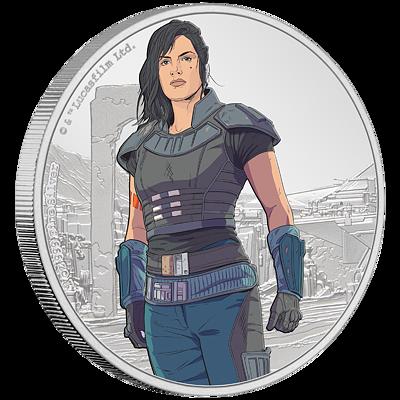 Stříbrná  mince Cara Dune™ 1 Oz 2021 (Star Wars™ Mandalorian™) Color PROOF - (2.)