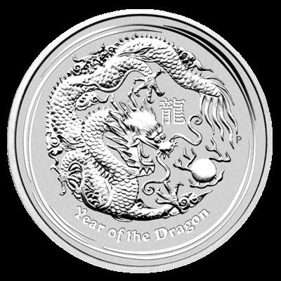 Lunární série II. - stříbrná mince 30 AUD Year of the Dragon (Rok draka) 1 kg 2012