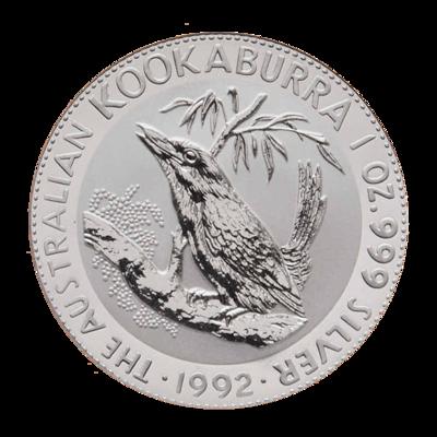 Stříbrná mince 1 Oz Australian Kookaburra (Ledňáček) 1992