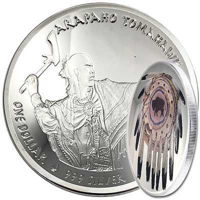 Stříbrná mince 1 USD Arapaho Tomahawk 1 Oz 2019 (Dome) PROOF