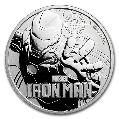 Stříbrná mince 1 Oz Iron Man™ (Marvel©) 2018 - (4.)