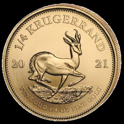 Investiční zlato - zlatá mince Krugerrand 1/4 Oz