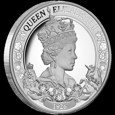 Exkluzivní stříbrná mince Královna Alžběta II. 95. výročí narození (H.M.Queen Elizabeth II.) 1 Oz 2021 PROOF