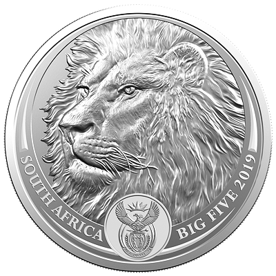 Stříbrná mince Big Five - Lion (Lev) 1 Oz 2019 - (2.)