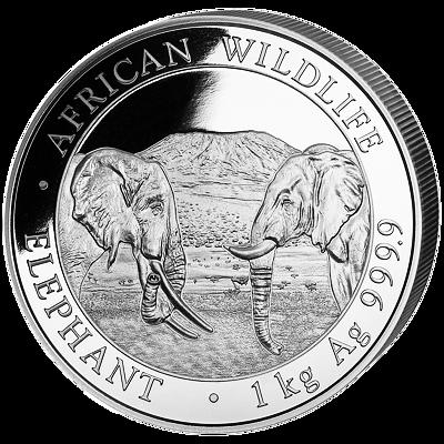 Stříbrná mince 2000 Schillings Elephant (Slon africký) 1 kg 2020 (African Wildlife Series)