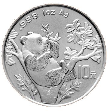 Stříbrná mince 10 Yuan China Panda 1 Oz 1995