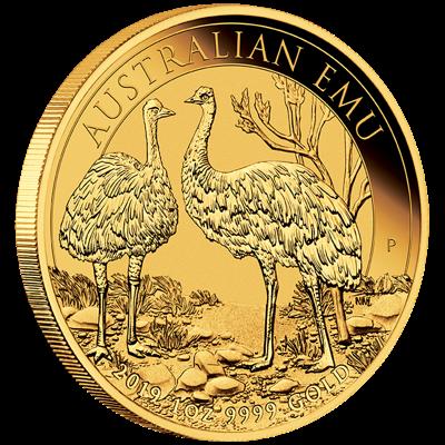 Zlatá mince 100 AUD Australian Emu 1oz 2019
