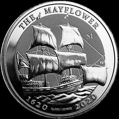 Stříbrná mince Mayflower 1 Oz 2020 (1620-2020)
