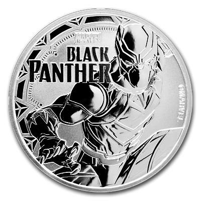 Stříbrná mince 1 Oz Black Panther™ (Marvel©) 2018 - (3.)