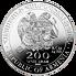 Stříbrná mince 200 Dram Noah´s Ark (Noemova archa) 1/2 Oz