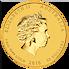 Lunární série II. - zlatá mince 25 AUD Year of the Monkey (Rok opice) 1/4 Oz 2016