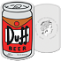 Stříbrná mince The Simpsons™ - Duff Beer 1 Oz 2019 PROOF