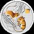 Lunární série III. - stříbrná mince Year of the Mouse (Rok krysy) 1 kg 2020 Colored Gold Privy Mark