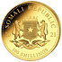 Zlatá mince 100 Schillings Elephant (Slon africký) 1/10 Oz 2021 (African Wildlife Series)