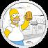 Stříbrná mince The Simpsons™ - Homer 1 Oz 2019 PROOF - (1.)