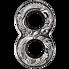 Stříbrná mince 2 Oz Dragon & Phoenix (Drak a Fénix) 2020 osmička (Figure Eight) Antique - (3.)